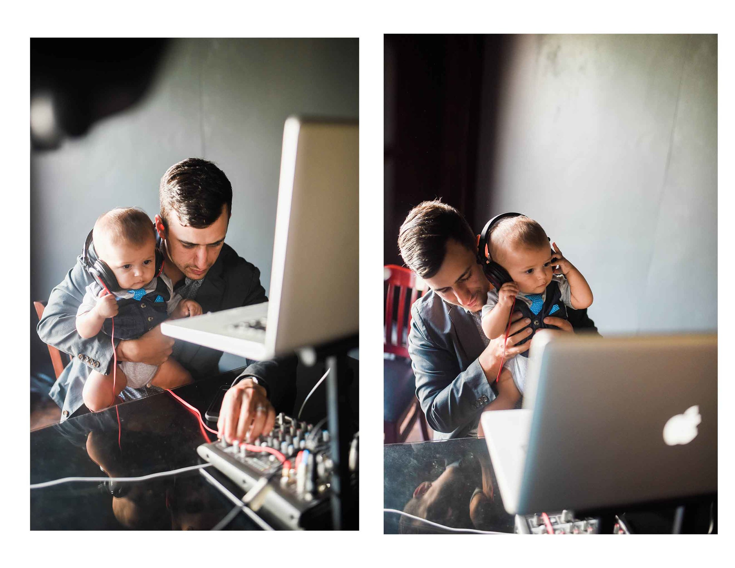 World's cutest DJ and world's cutest baby!