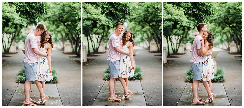 Roanoke, Virginia Wedding photographer, engagement session in downtown Roanoke, Virginia
