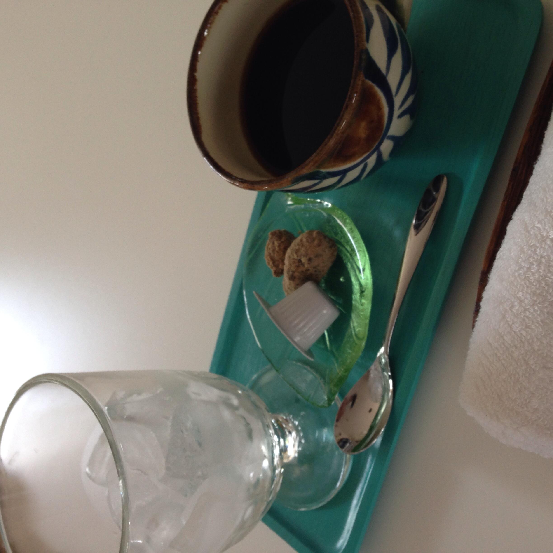 ハンドドリップで濃いめに入れた珈琲と氷