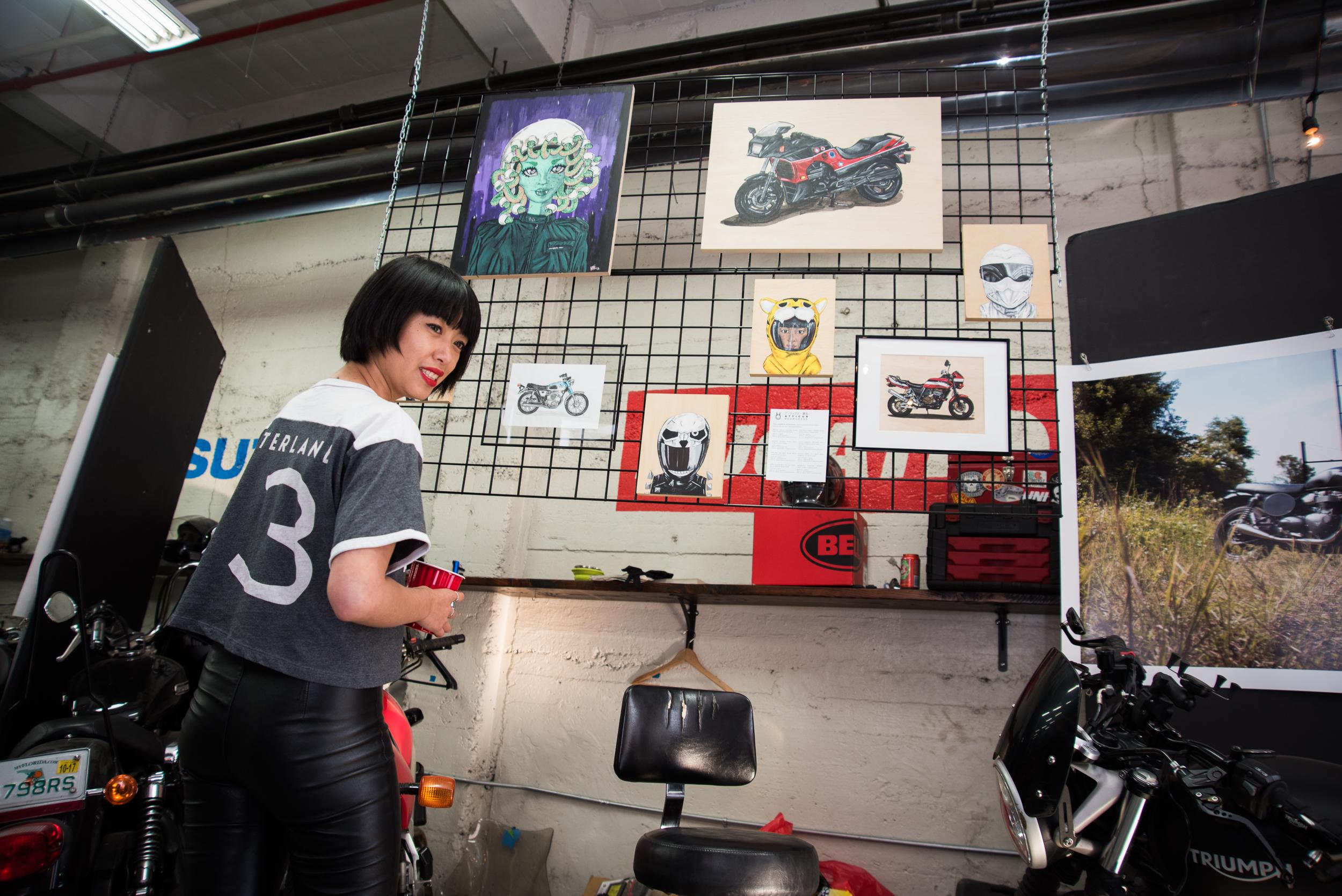 Motorgrrl Artshow 2018 NYC New York Brooklyn Williamsburg Moto Motorcycle Art Atticus Anonymous 15.jpg