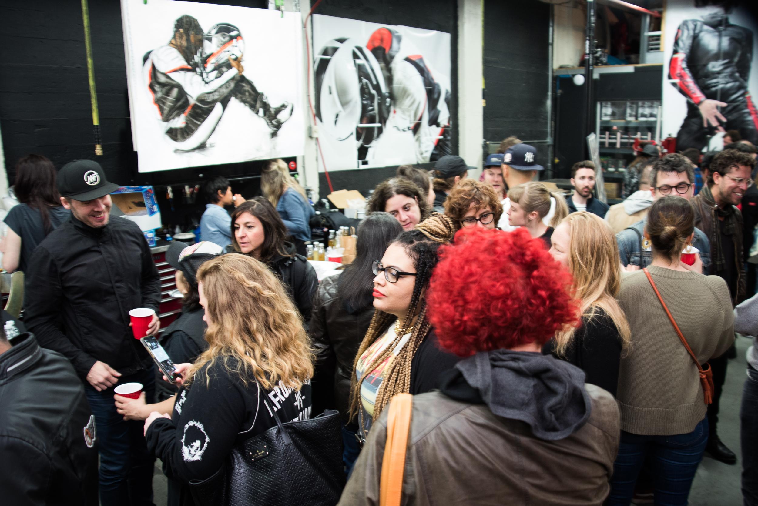 Motorgrrl Artshow 2018 NYC New York Brooklyn Williamsburg Moto Motorcycle Art Atticus Anonymous Grace Roselli.jpg
