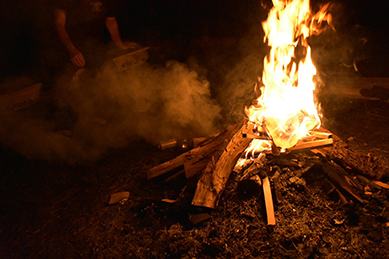 atticus anonymous memorial day weekend camp lake cabin new york fire fireplace 2018.jpg