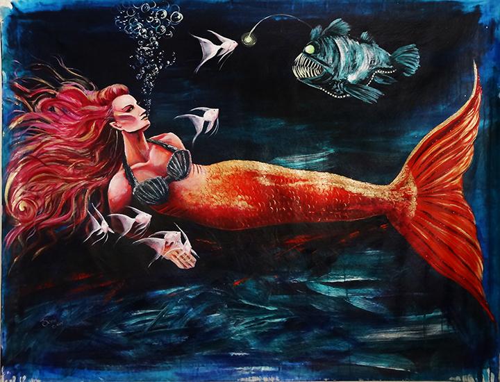 Anglerfish and Mermaid