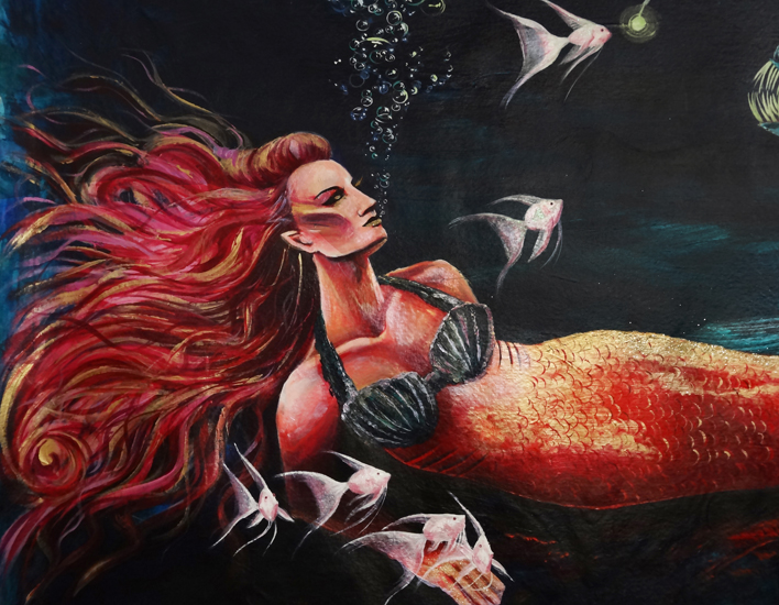 Anglerfish and Mermaid (Detail)