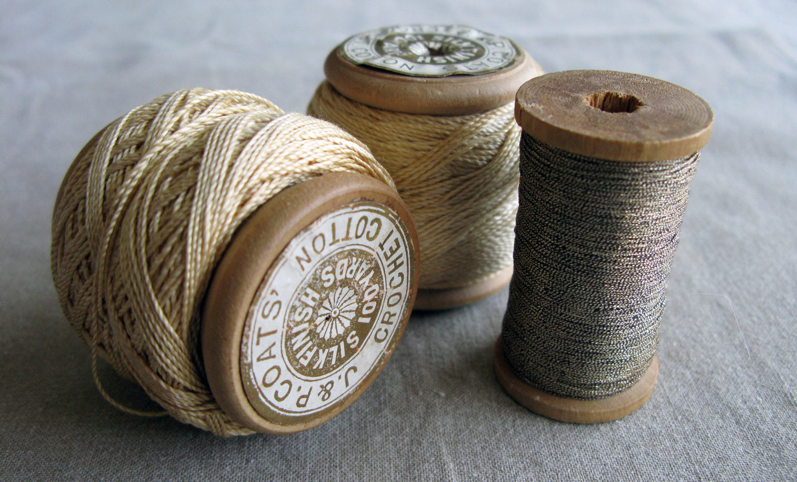 spools of crochet cotton