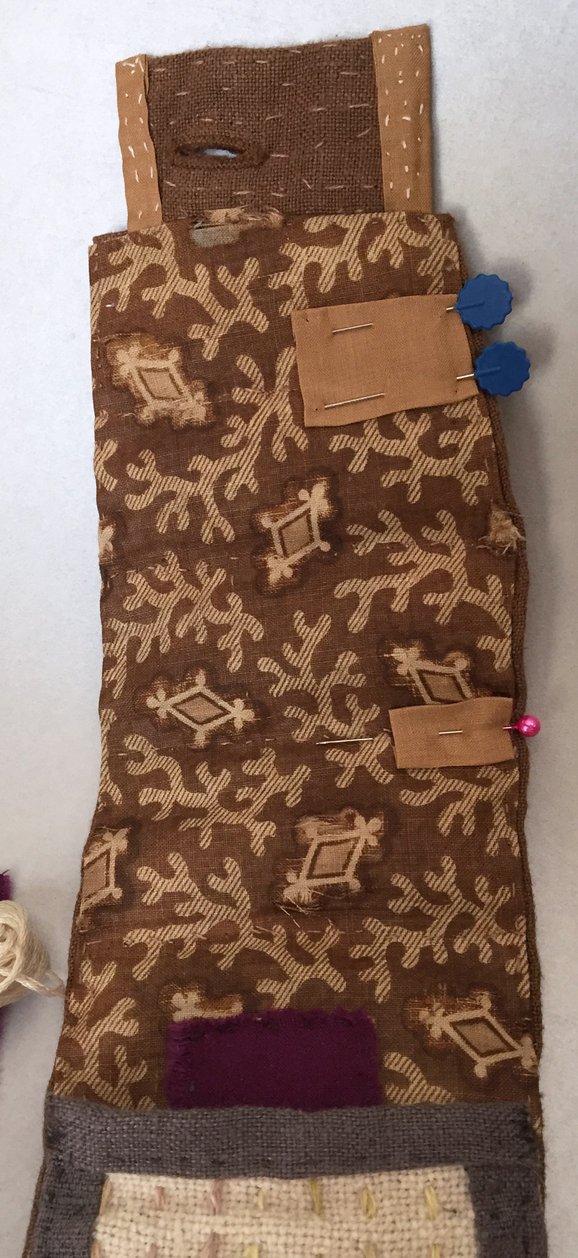 upcycled sewing roll-up interior