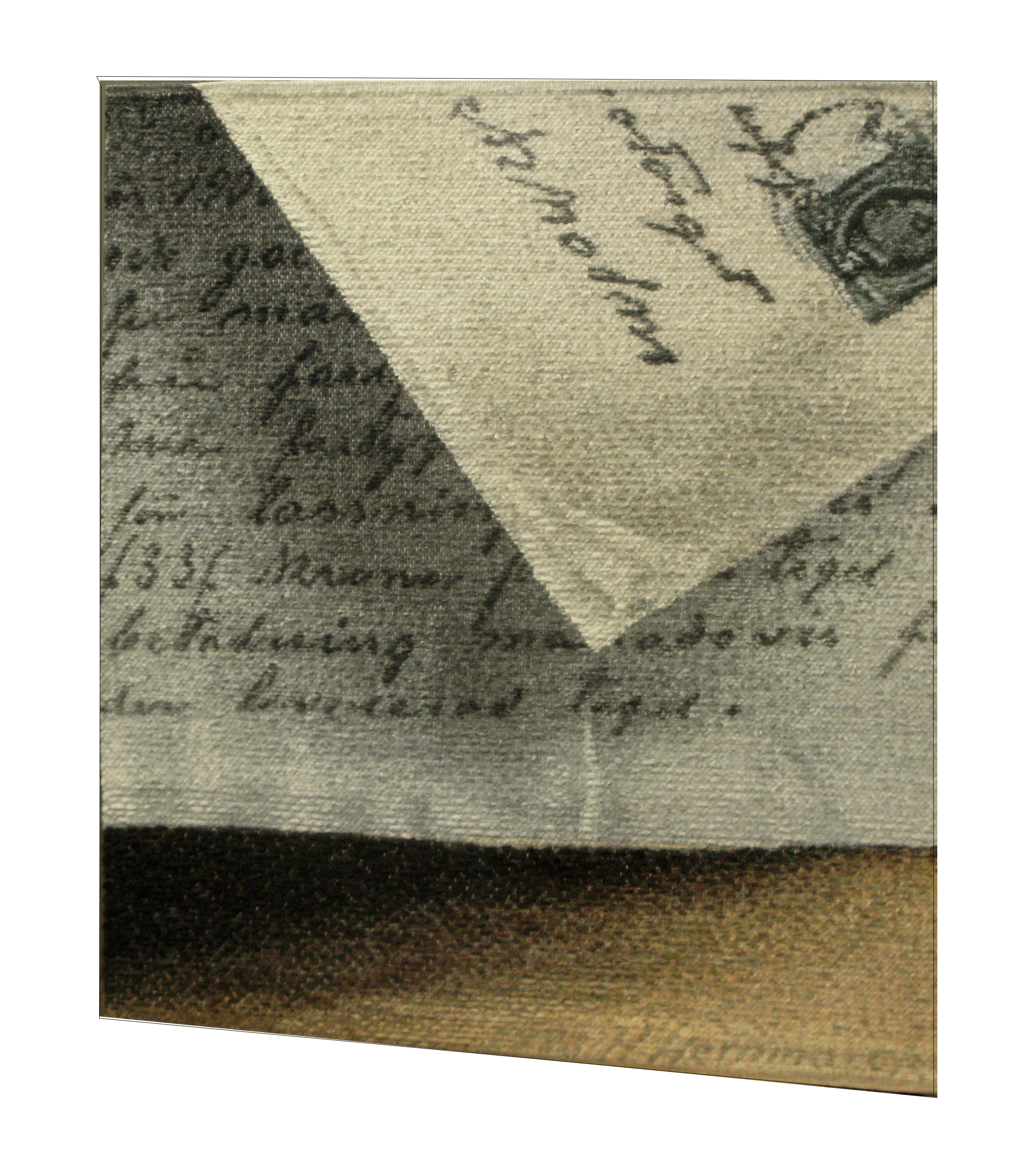 Hernmarck has a unique ability to fool the viewer's eye, as with this example of spatial illusion.