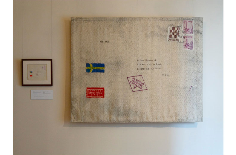 ENVELOPE FROM SWEDEN - 1992   In Our Nature   exhibition at  American Swedish Institute  Photo: Norman McGrath Collection:  Minneapolis Institute of Art .