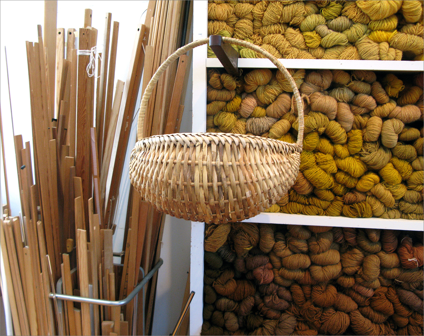 hernmarck - yellow wall with basket