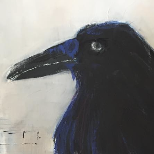RAVEN TAKES A STROLL (detail) :: BY  JO-ANN GILBANKS CORDES