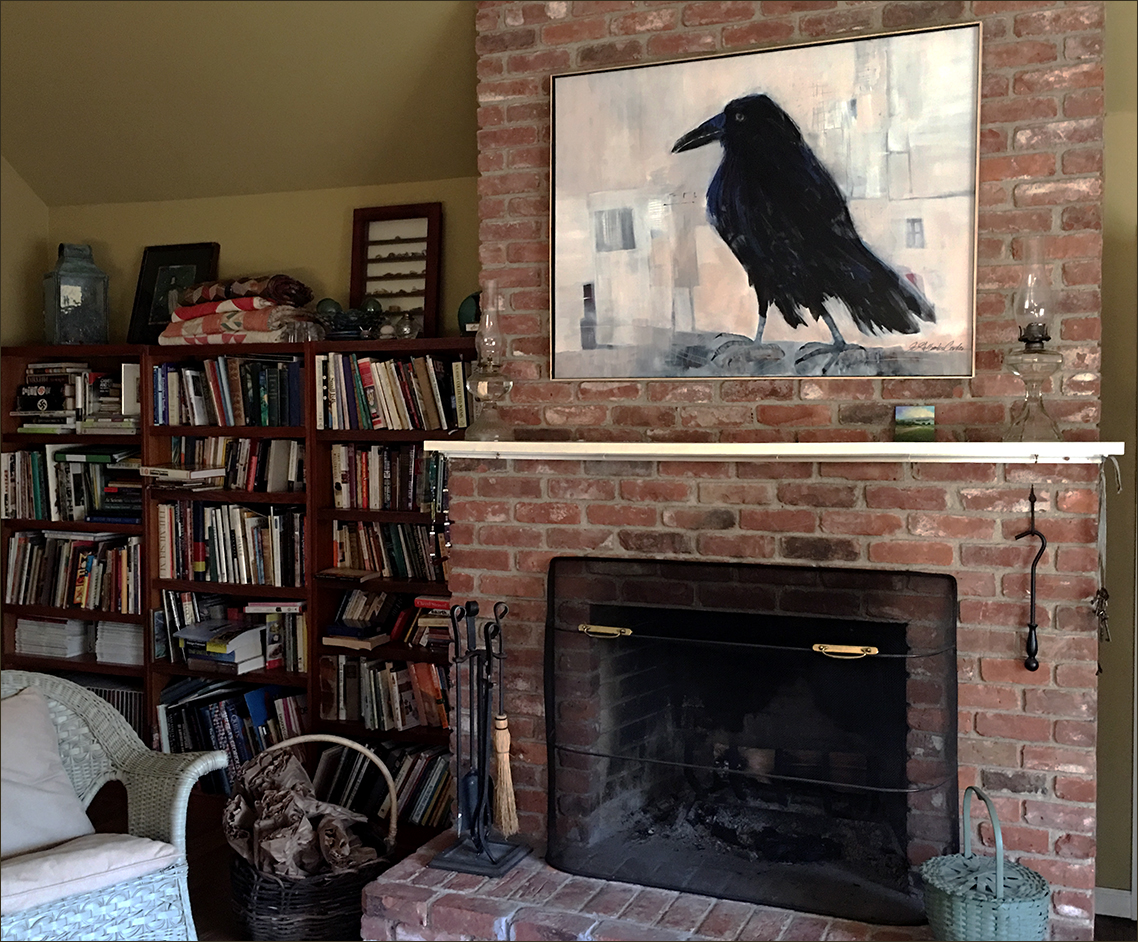 "FROM ""MY"" CHAIR IN THE FAMILY ROOM :: I SEE THE RAVEN AND THE RAVEN SEES ME."