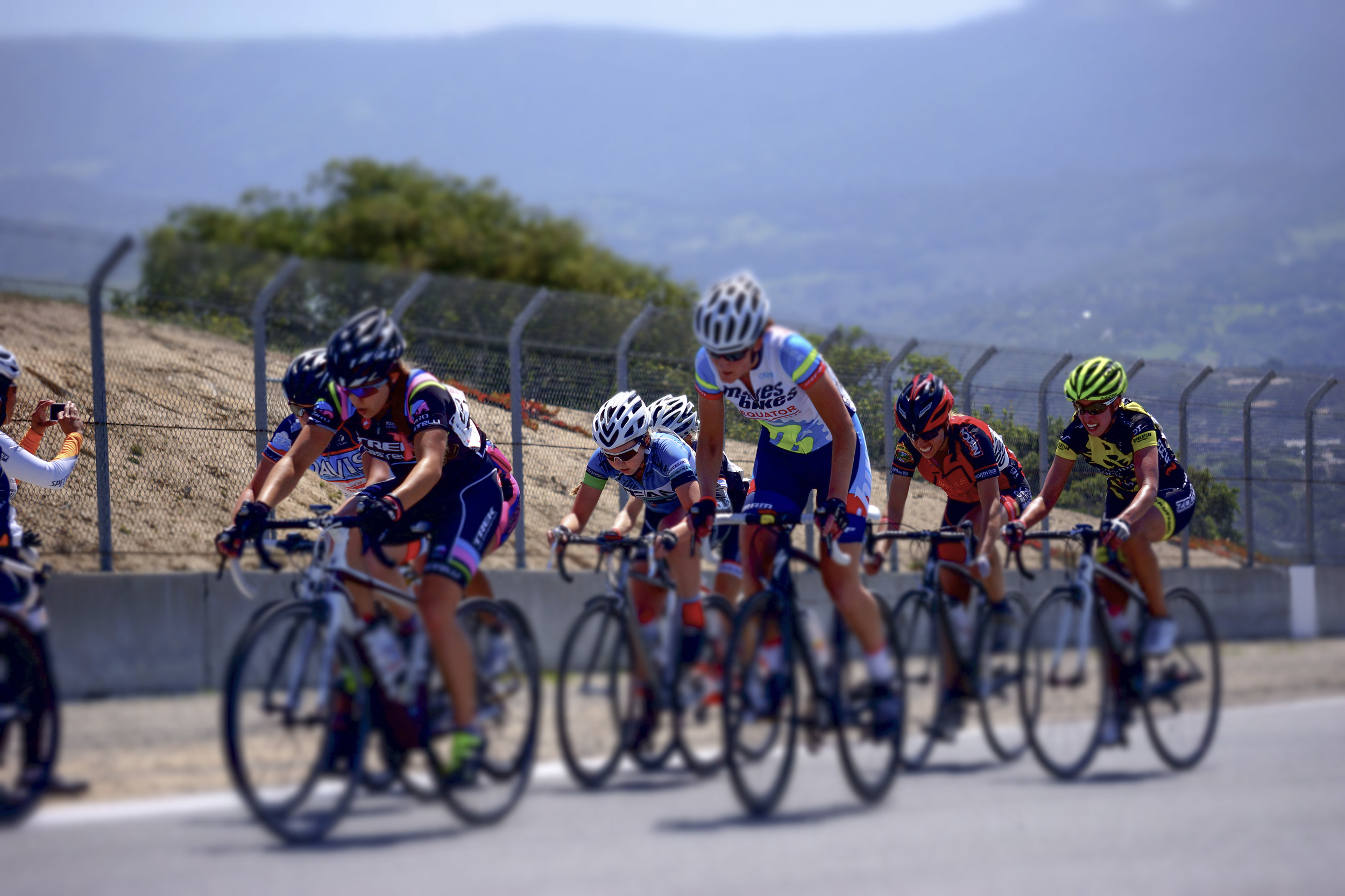 Angel looking strong in the Sea Otter Road Race
