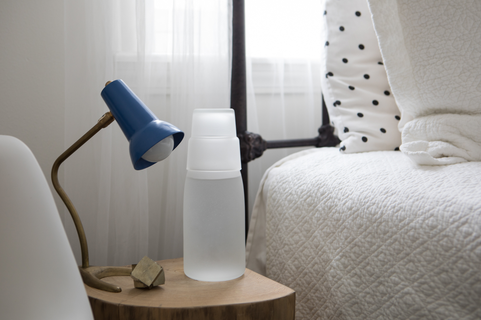 Stay hydrated - Life isn't all about booze. Pair a carafe and glass as a water decanter for your bedside—or as a classier way to stay hydrated all day at your desk.