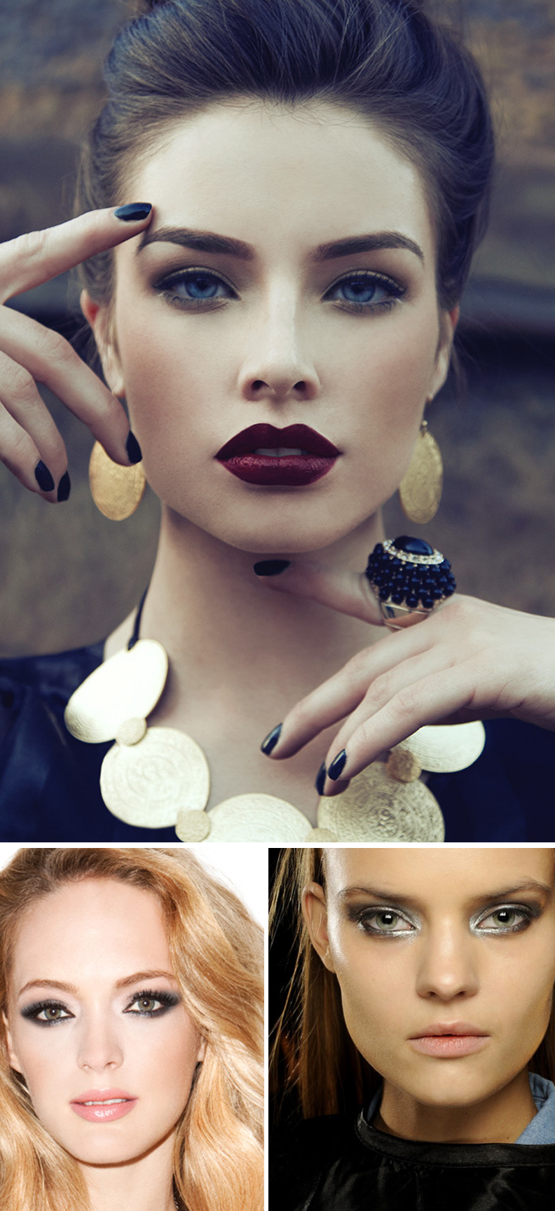Top image: www.thewingedlady.com; Bottom left image: Smashbox.com; Bottom right image: www.thefashionfox.co.za