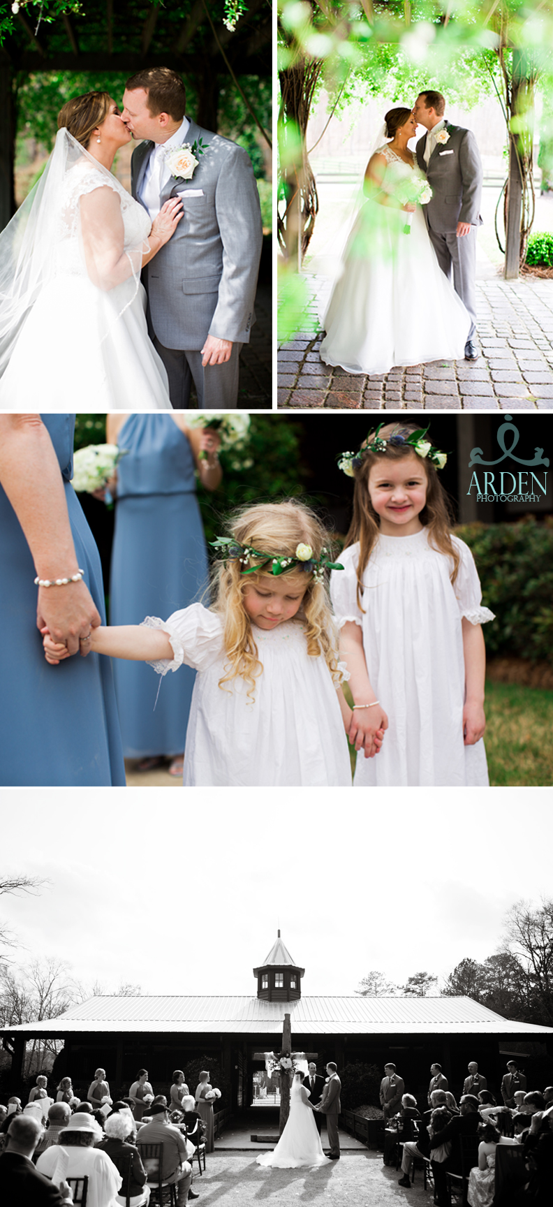 Lots of love for all during the traditional vows and who doesn't love a precious flower girl photo?