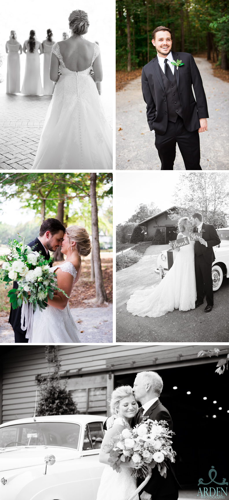 First looks for loved ones: friends, family, and groom.
