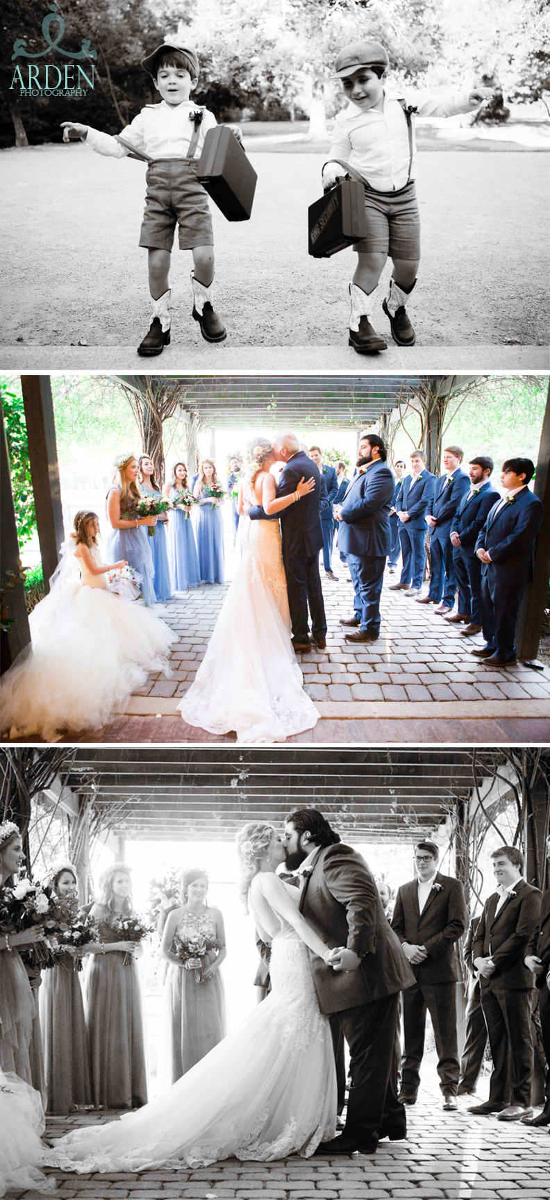 From father to groom.