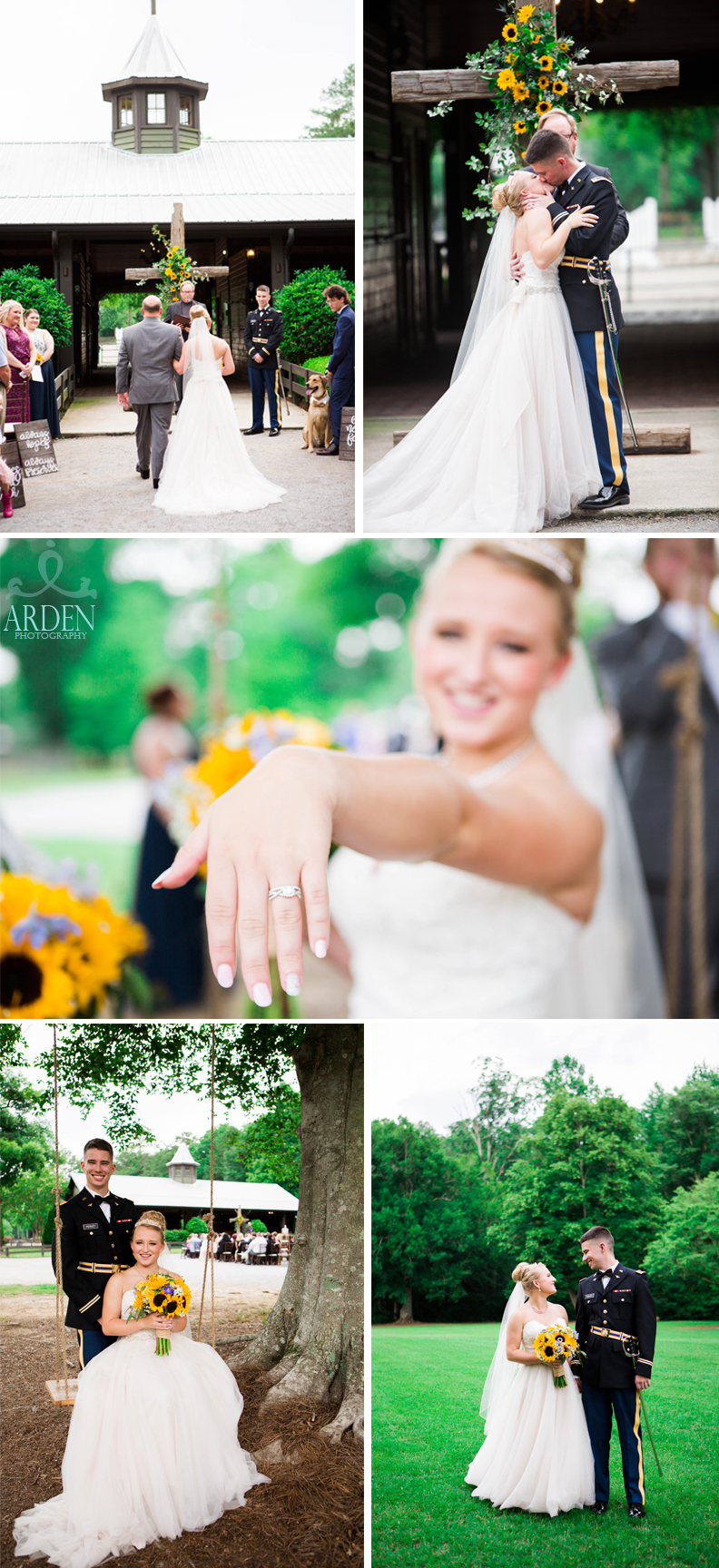 Sunflowers added a pop of color to this summer wedding!