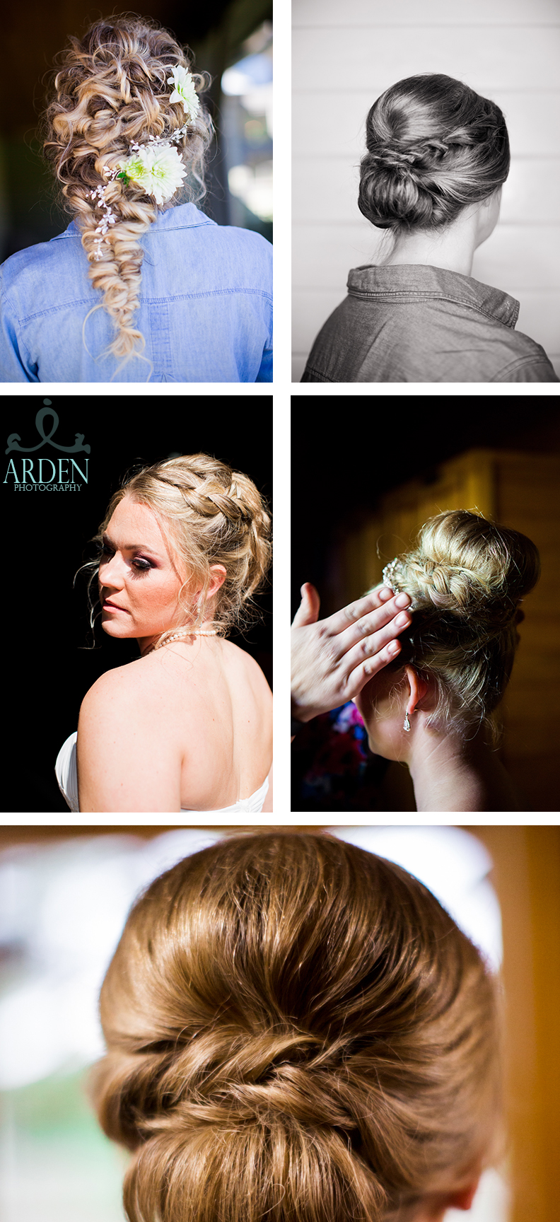 Fishtail braids & braided up-do's