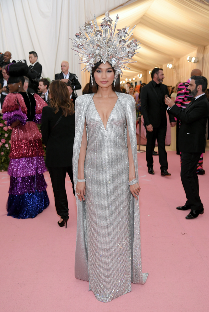 Gemma Chan in Tom Ford wearing Forevermark jewelry