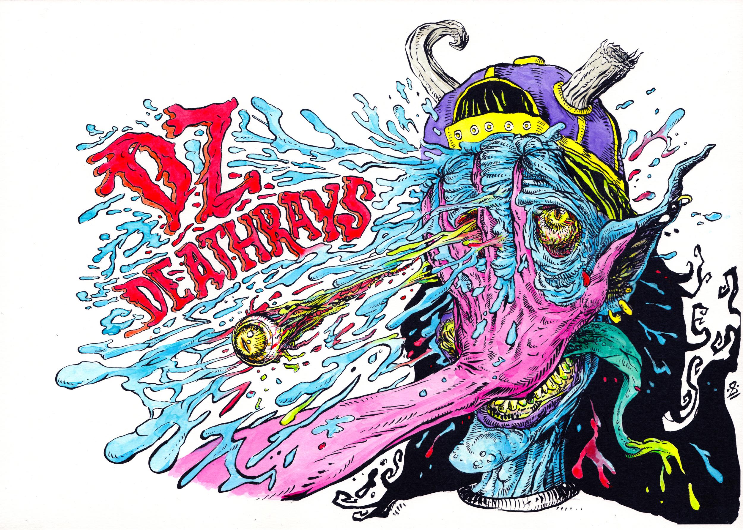 DZ Deathrays  design (2016)  Ink on Bristol