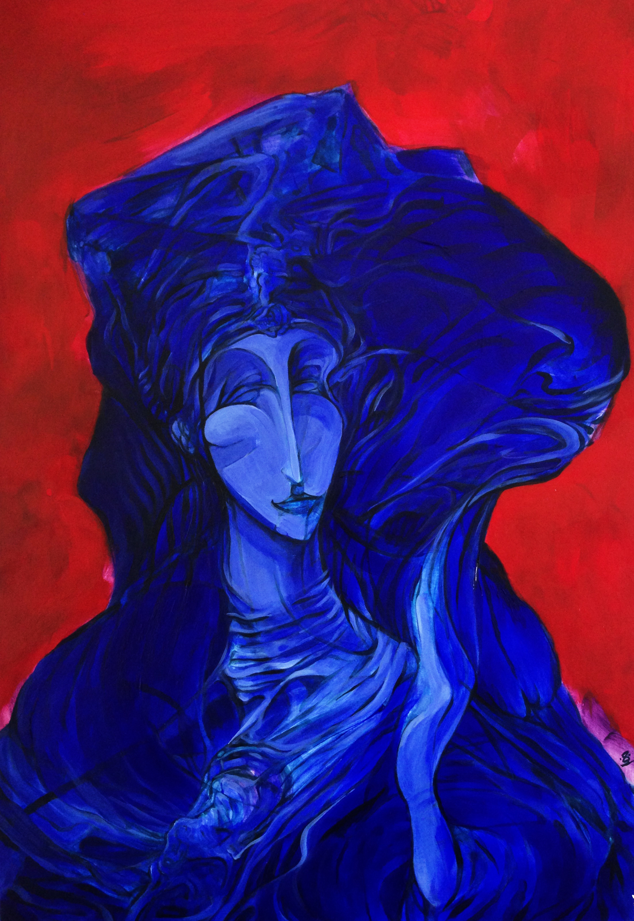 Leisure-Lost Lady (2016) ** SOLD **   Acrylic on Board