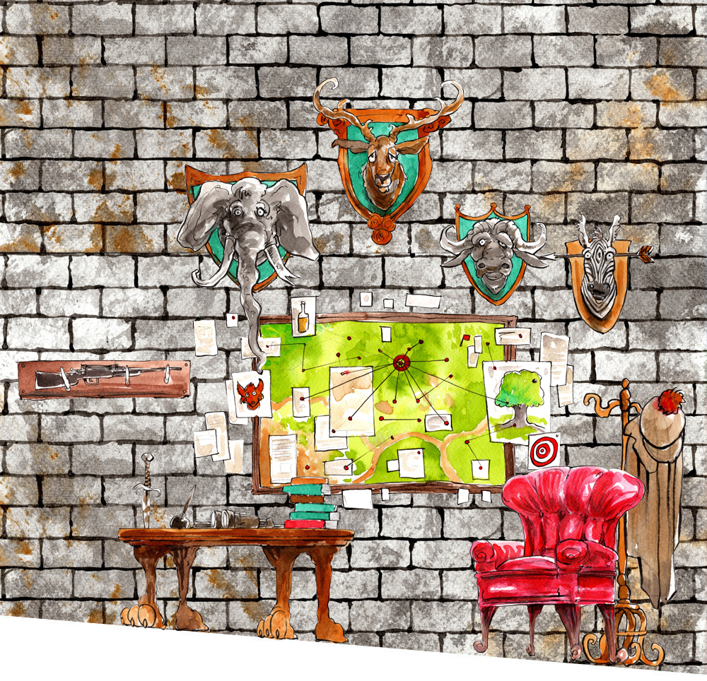 """The War Room background - From """"Fantastic Mr Fox"""""""