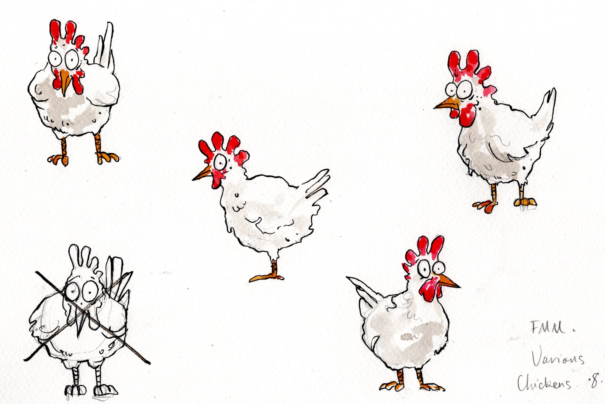 """Assorted Chickens - From """"Fantastic Mr Fox"""""""