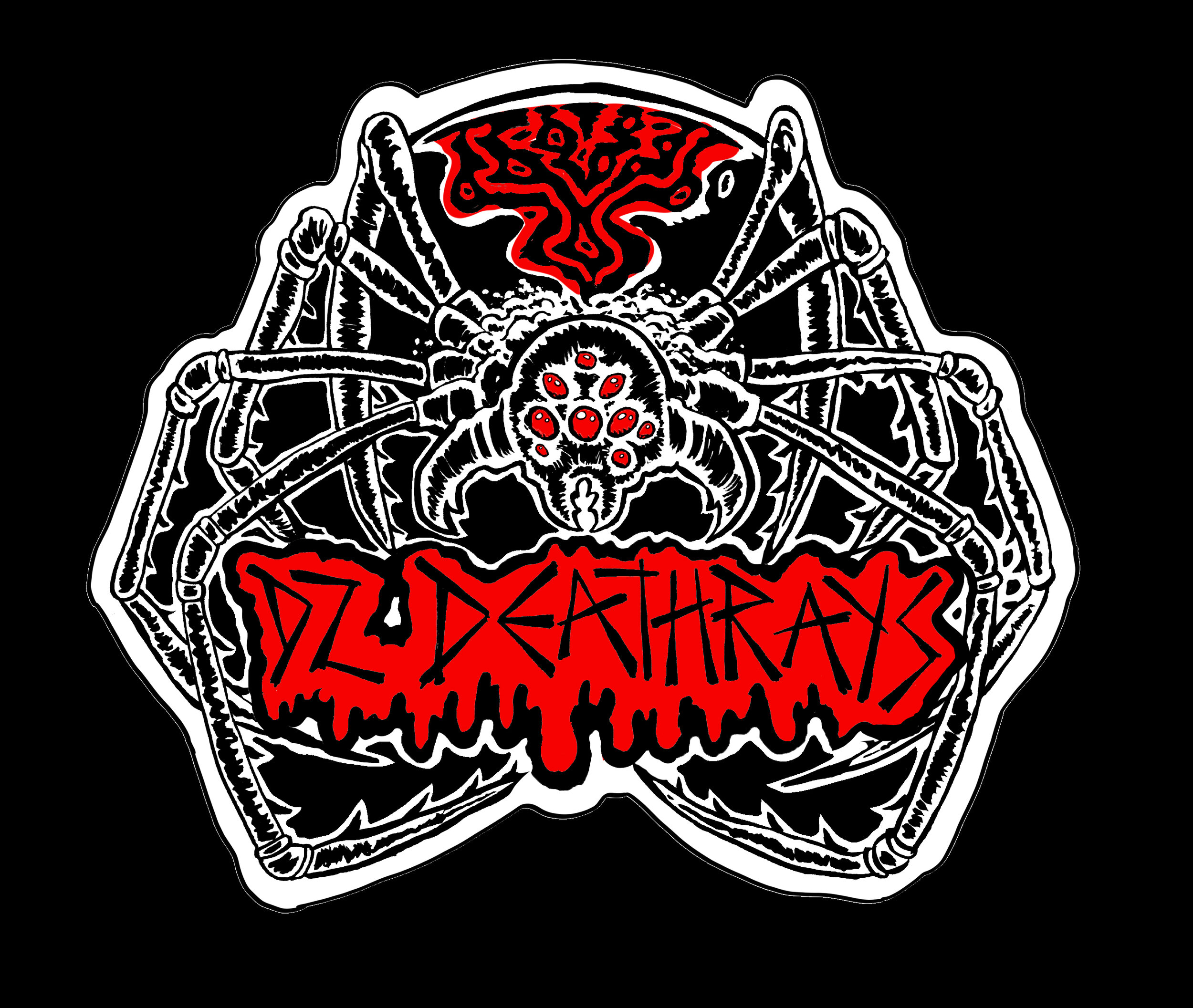 DZ Deathrays  patch design (2019)  Ink (with digital colours) on Bristol
