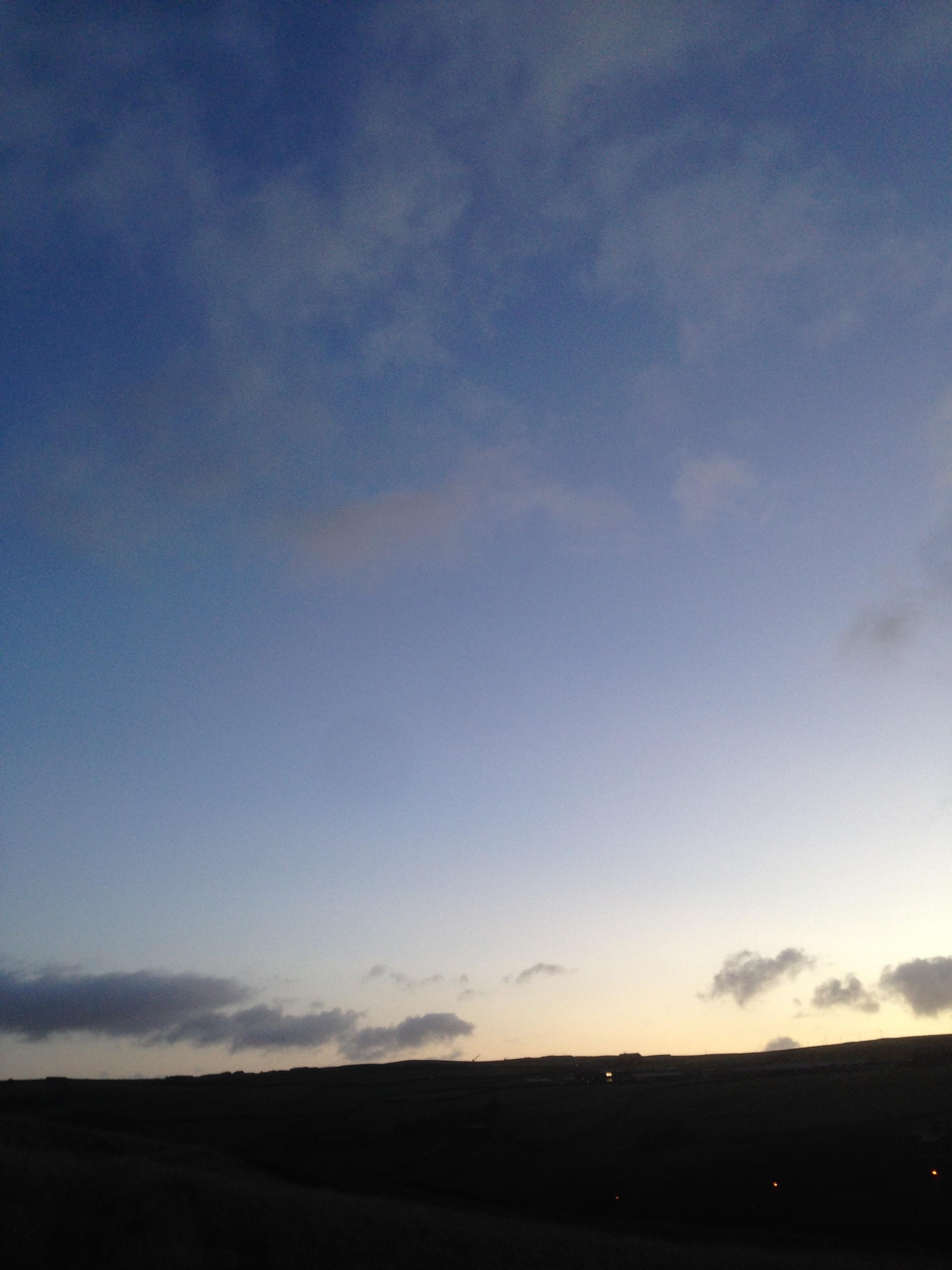 Just before sunrise on Friday 19/12/14
