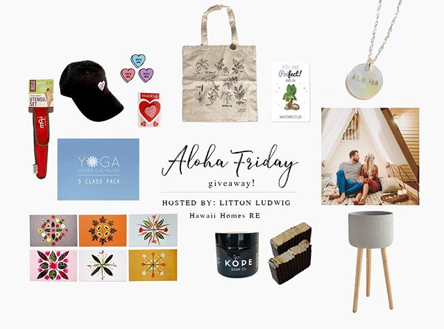 Happy Aloha Friday Giveaway!  One lucky Oahu resident will win over $800 value in prizes!  9 Oahu small businesses have teamed up for this giveaway and all you have to do to win it all is simply: ✨✨✨✨✨✨✨✨✨✨✨✨✨✨✨✨✨✨ • • 1) Be living on Oahu or must be able to meet in person in Honolulu to collect prizes and schedule photo shoot. Prizes will not be mailed.  2) Like this post. 3) Follow each business tagged in this photo. 4) Tag 3 friends on this post. 5) Repost in your IG or Mystory for additional entry (don't forget to tag this IG account and make account public for the duration of givaway). ✨✨✨✨✨✨✨✨✨✨✨✨✨✨✨✨✨✨ • • Prizes Tall three legged planter @hawaiihomesre I 30 minutes shoot with 20 edited images at Wai`alae Beach Park @stephenludwigphotography I 5 Yoga Class Pack @Yogaunderthepalms I Garden Tote and Poifect pin @Misteemu I Ku`uipo hat, ku`uipo stickers, ku`uipo pin @tradeshawaii I 6 pack postcard pack @lolapilarhawaii I exfoliating scrub and two exfoliating bar @kopesoap I ALOHA pearl pendant gold chain necklace @rawearth.co I To go ware bamboo utensil set @mori_hawaii ✨✨✨✨✨✨✨✨✨✨✨✨✨✨✨✨✨✨ • • Entries ends July 5th 9PM Hawaii standard time.  The winner will be randomly selected and announced on the following day.  Open to OAHU RESIDENTS ONLY because of the nature of the prizes where the winner will need to be on the island to use the prizes.  Accounts should be made public for IG and Mystory posts.This giveaway is not affiliated with Instagram. ✨✨✨✨✨✨✨✨✨✨✨✨✨✨✨✨✨✨ Good luck and thank you for participating!