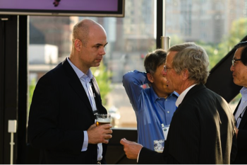 CHairman of the Asian Coal Ash Association David Harris (left) and Tom RObl (right), Scientist and director at the center for applied energy research at the university of kentucky. Both were in attendance at Woca 2015.
