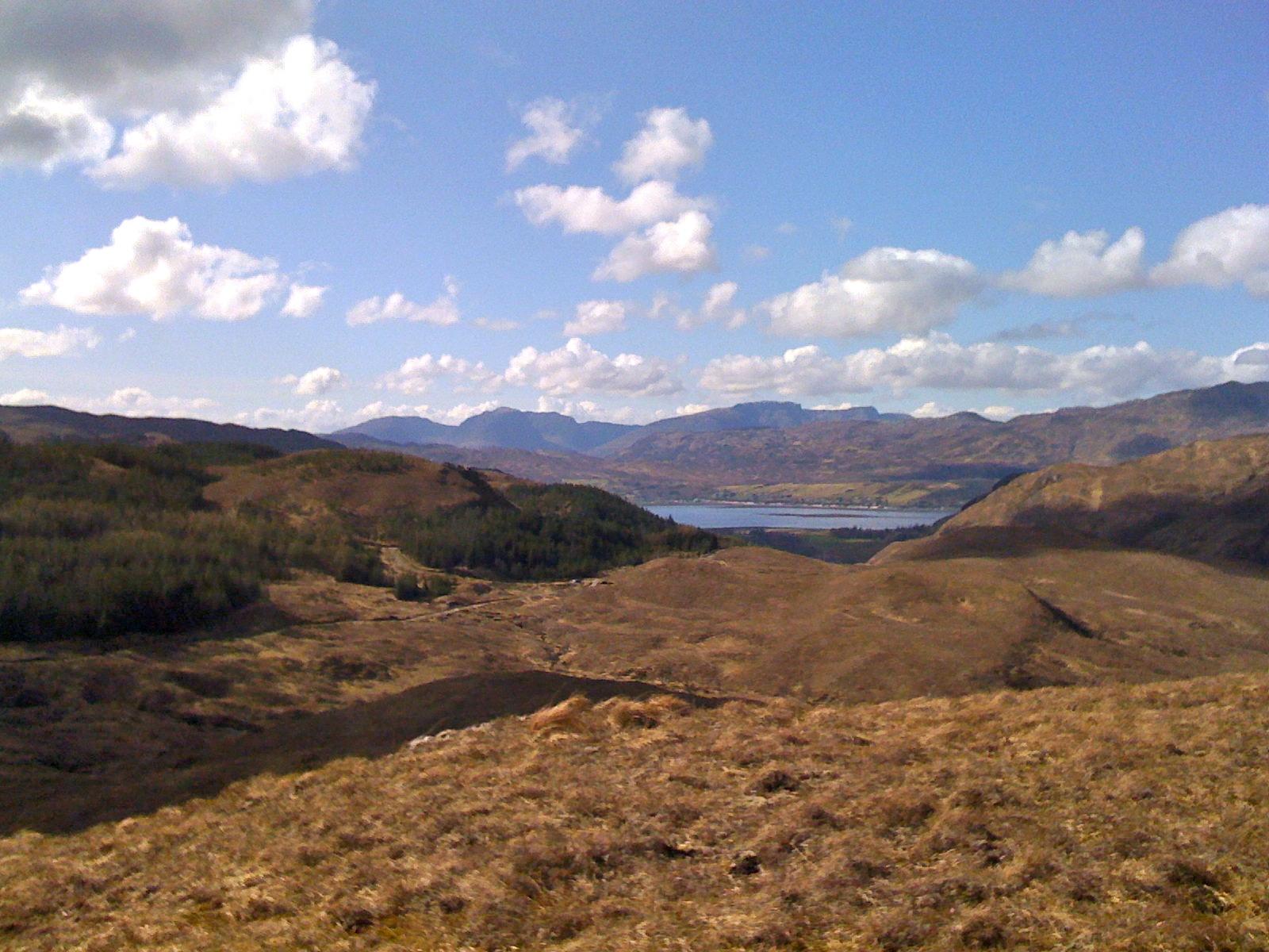 Bike = Loch Carron in distance from track to Ben Dronaig.jpg