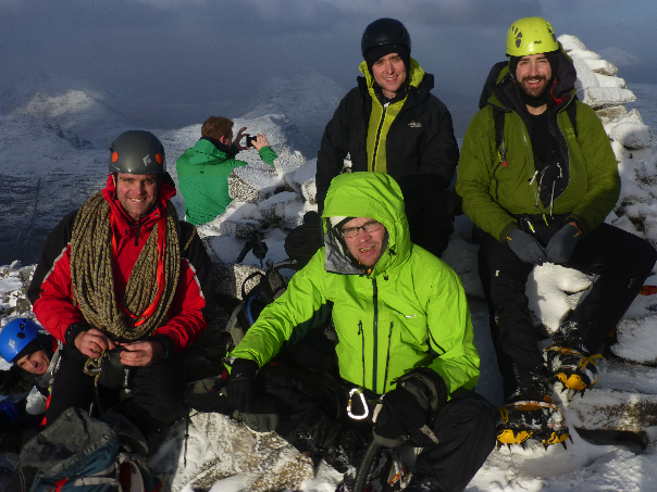 New Year course group on the summit of Liathach in Torridon