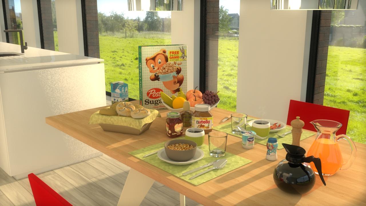 Alexander Van Steertegem - ontbijttafel