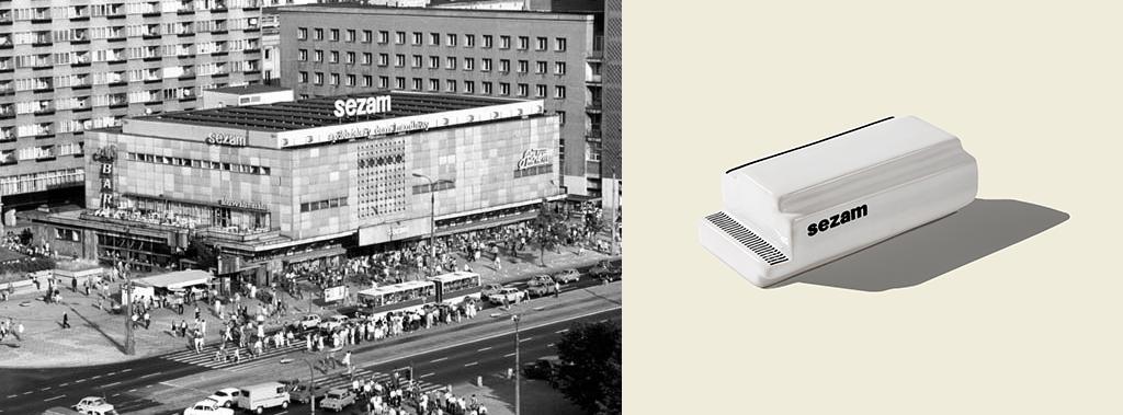 Sezam - department store located at ul . Marszałkowska 126/134 wWarszawie in the years 1969-2014 . The building was designed by Andrzej Sierakowski, Tadeusz Błażejewski, Jan Kopciowski and Roman Widery as part of a team of the Eastern Wall ( photo: unknown photographer, 1981).