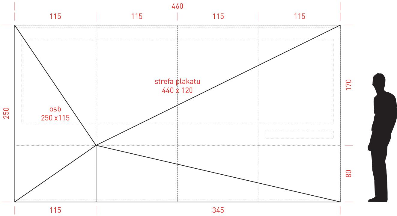 Dimension of the posters (project: Marcin Kwietowicz).
