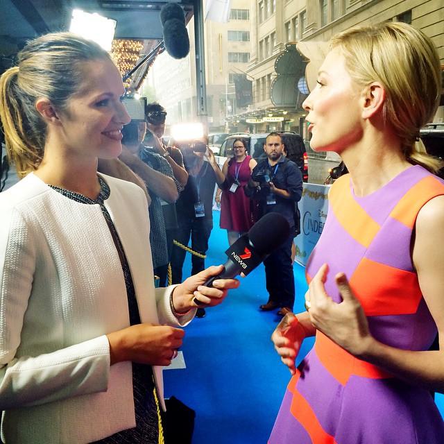 Jess interviewing Cate Blanchett