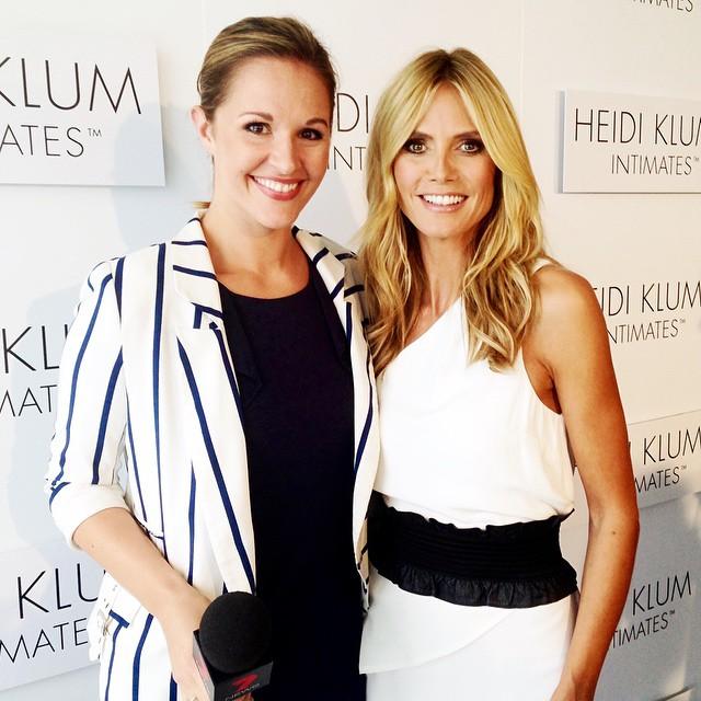Jess and Heidi Klum