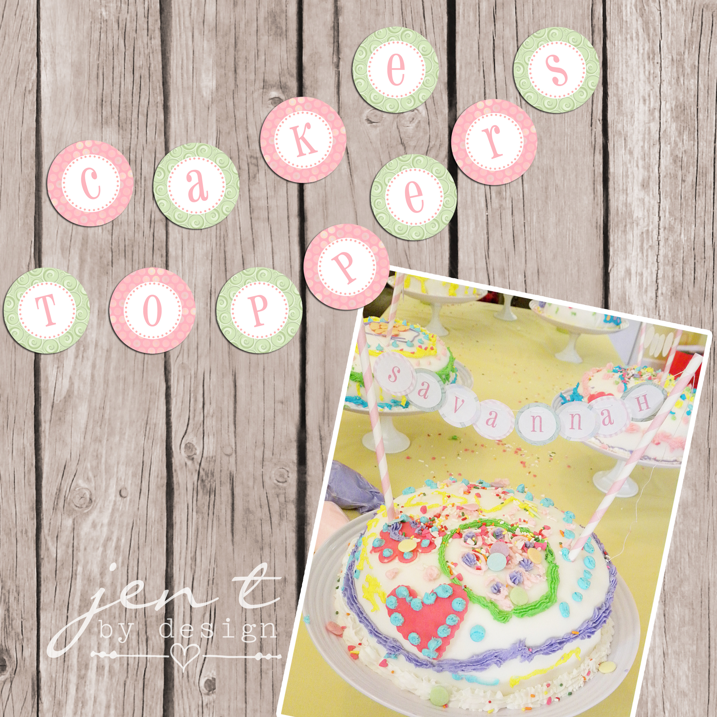 Baking Party Cake Toppers - mounted and watermarked copy.jpg