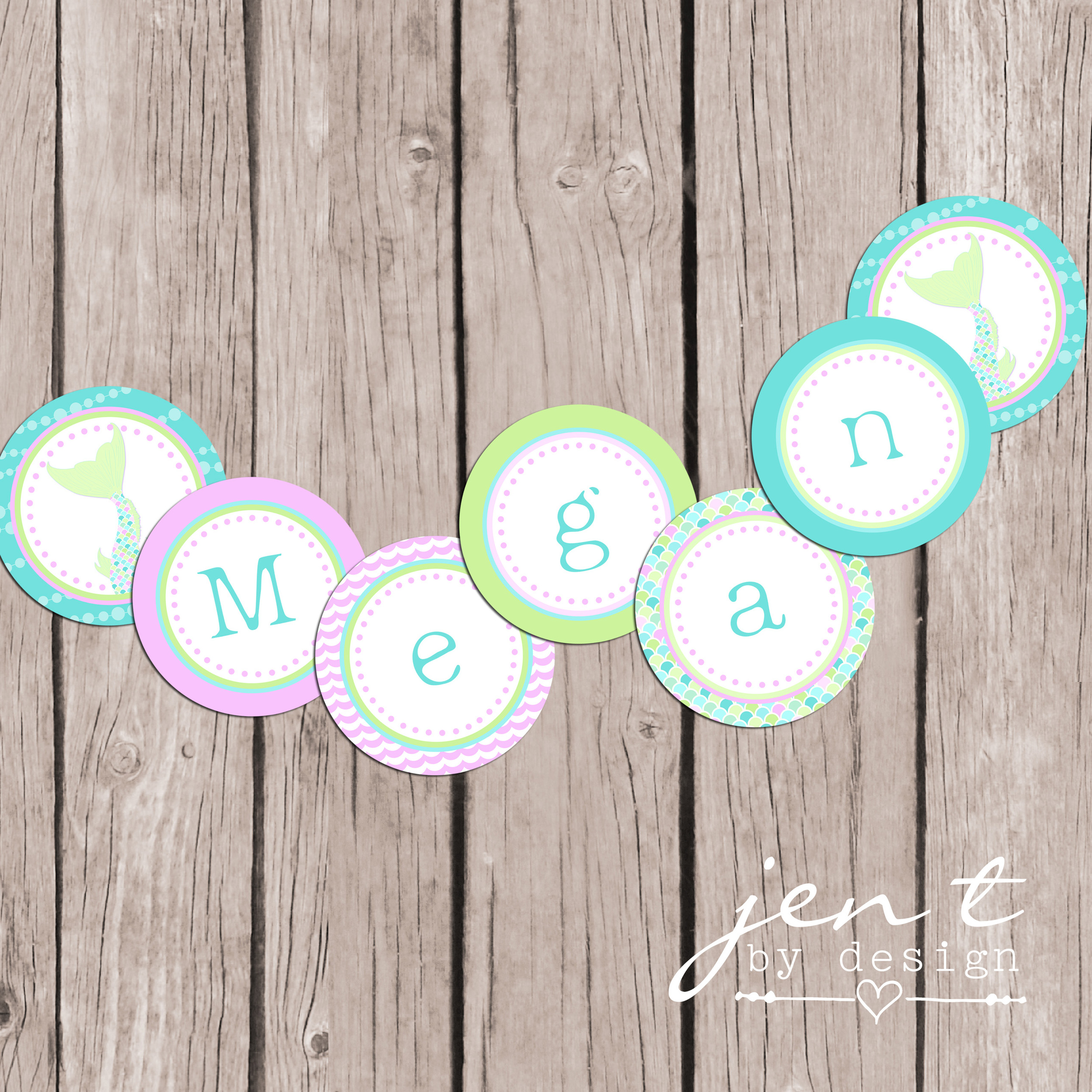 Mermaid Editable Party Banner - mounted and watermarked copy.jpg