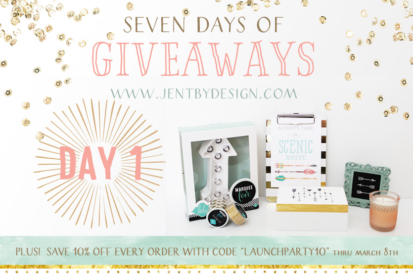 JenTbyDesign Launch Party Giveaway