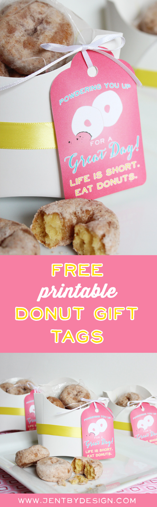 Donut Gift Tags for National Donut Day