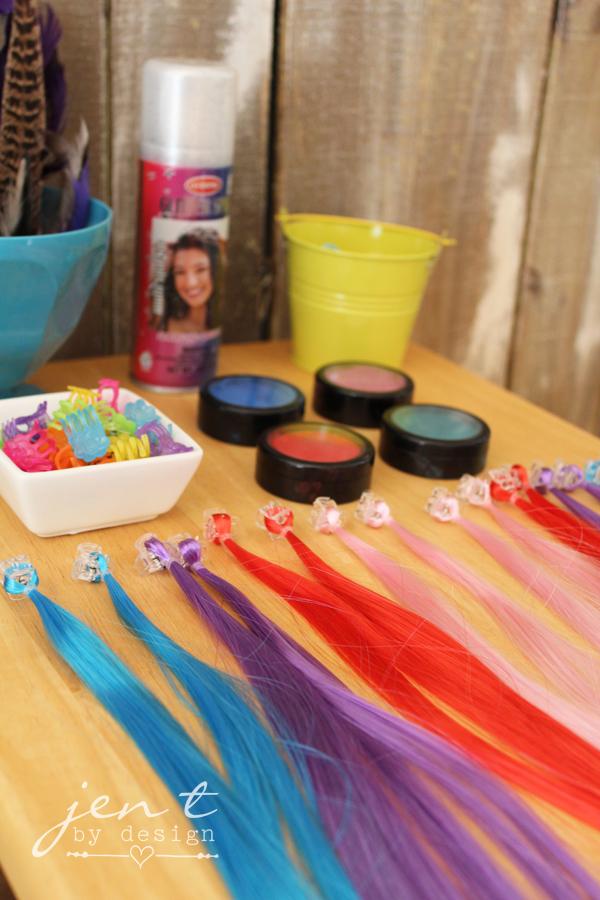 Salon Birthday Party Ideas - Hair Bling