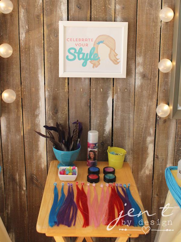 Salon Birthday Party - Hair Styling Station