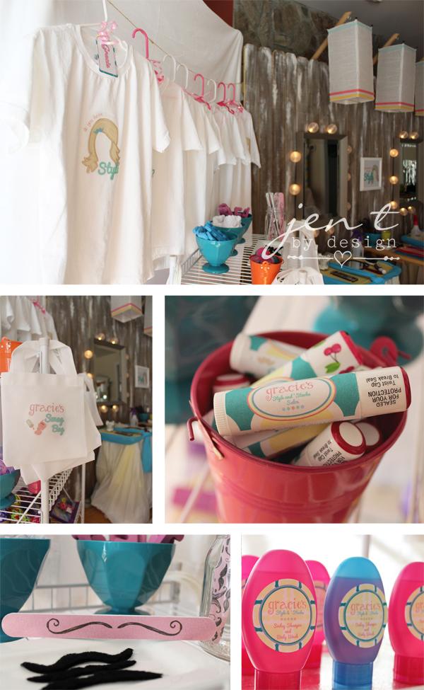 Salon Birthday Party - Shopping Station