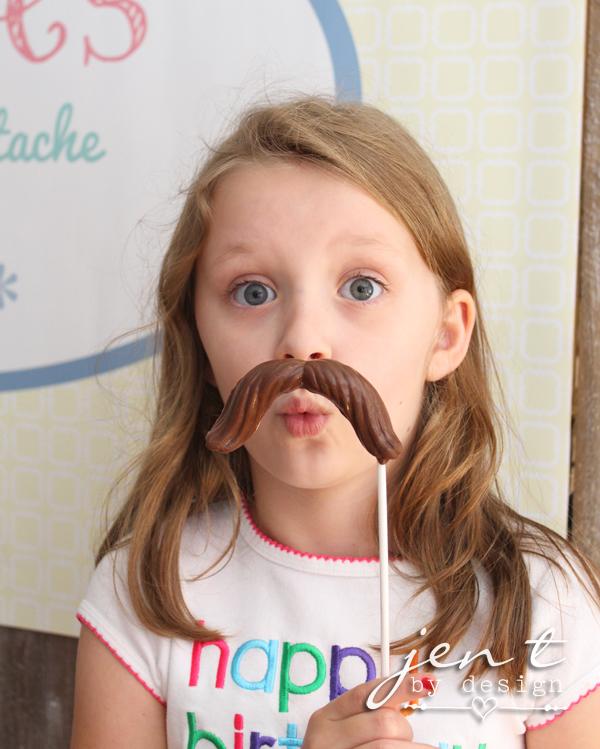 Salon Birthday Party - Mustache Pops