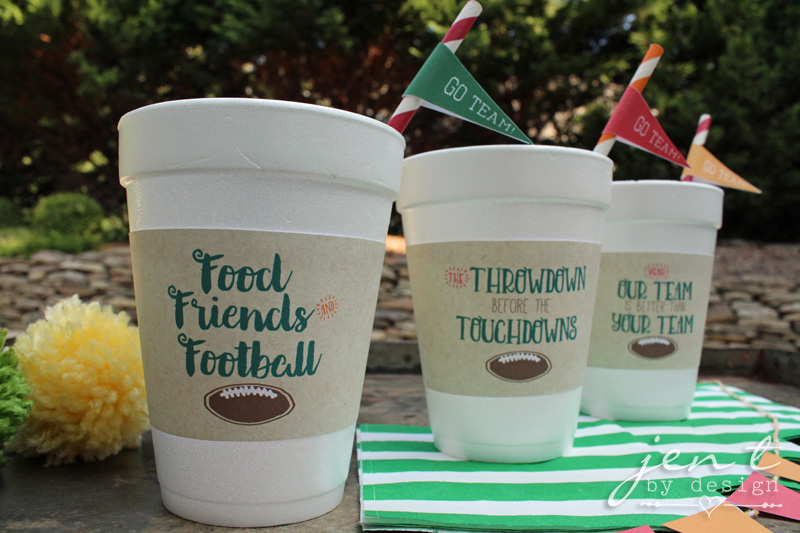 Football Tailgate Cup Sleeves