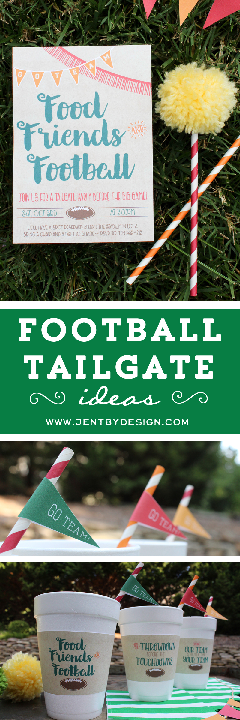 Football Tailgate Ideas - JenTbyDesign.com