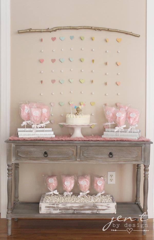 Unicorn Birthday Party Ideas - Pink Cotton Candy Clouds - JenTbyDesign.com